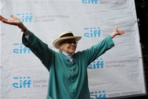 "Jini Dellaccio at World Premiere of ""Her AIm Is True"" Seattle International Film Festival Photo by Dana Nalbandian courtesy SIFF"
