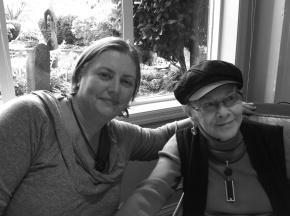 Director Karen Whitehead, with Jini Dellaccio, photographer, & subject of HER AIM IS TRUE
