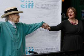 Jini Dellaccio & Her Aim Is True director at Seattle International Film Festival, 2013 photo courtesy SIFF